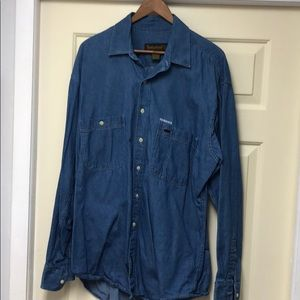 Men's Timberland Sundance denim shirt.
